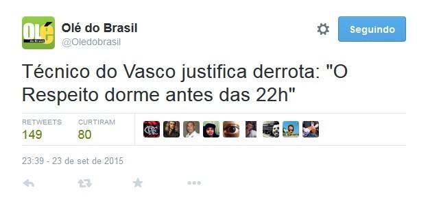 Zoações Vasco