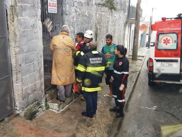 Corpo de Bombeiros de Mairinque atenderam a ocorrência (Foto: Corpo de Bombeiros de Mairinque/Divulgação)