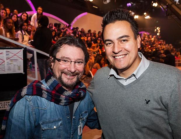 O produtor Raulzinho e o presidente da Bombril, Marcos Scaldelai (Foto: Fred Chalub)
