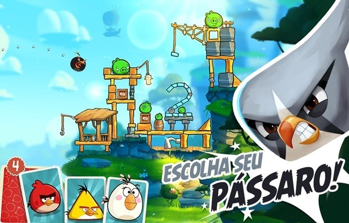 Novo Angry Birds tem fases com vários estágios (Foto: Divulgação)
