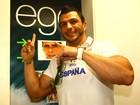 Kleber Bambam visita a redação do EGO em São Paulo e comenta o 1º paredão do BBB 12