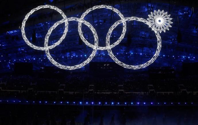 sochi aneis olimpicos olimpiadas de inverno   (Foto: AP)