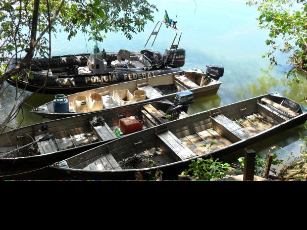 PF apreende 100 quilos de pescados e apreende 9 por pesca ilegal em MS (Foto: Divulgação / Polícia Federal)