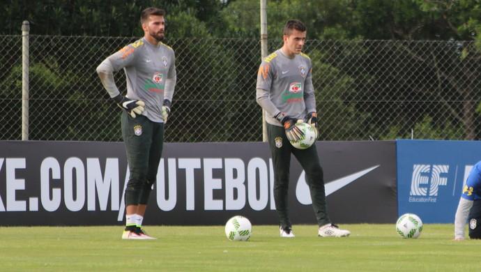 Alisson e Marcelo Grohe (Foto: Diego Guichard)
