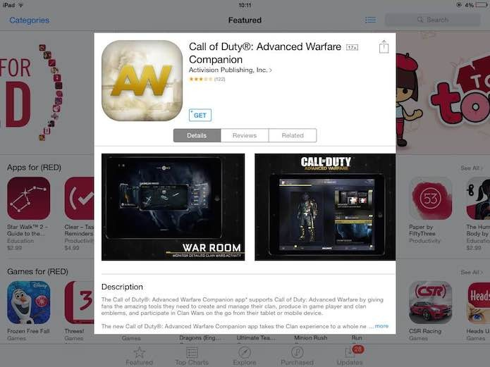 Call of Duty: Advanced Warfare: como instalar e usar o Companion App do game (Foto: Reprodução/Murilo Molina)