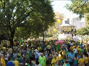 Protesto em Belo Horizonte (Gnews)  (Foto: Reprodução GloboNews)