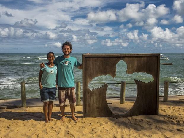 Na Praia do Forte, na Bahia (Foto: Leonardo Maceira/Arquivo pessoal)