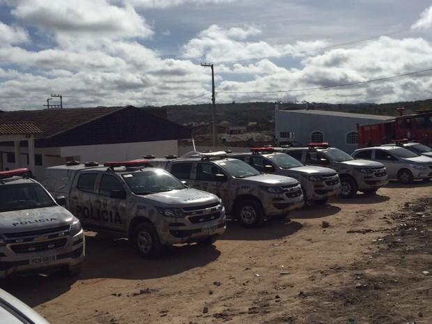 Batalhão de Choque da Polícia Militar também esteve no local  (Foto: Divulgação / Polícia Militar)