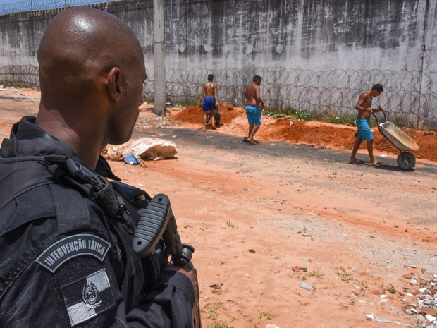 Foco das ações da FTIP é a penitenciária de Alcaçuz, onde pelo menos 26 detentos foram mortos em janeiro (Foto:  Thiago Amaral)