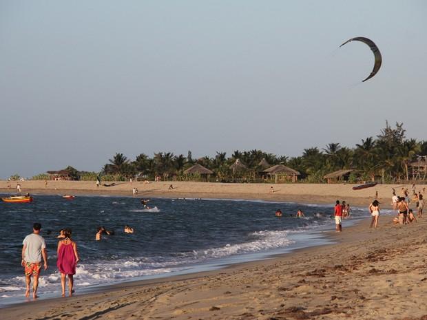 Barra Grande, no Litoral do Piauí, reserva um dos mais belos cenários do Piauí (Foto: Matias Legon)