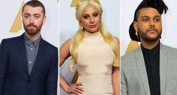 Sam Smith, Lady Gaga e The Weeknd se apresentam no Oscar 2016 (Foto: reprodução/divulgação)