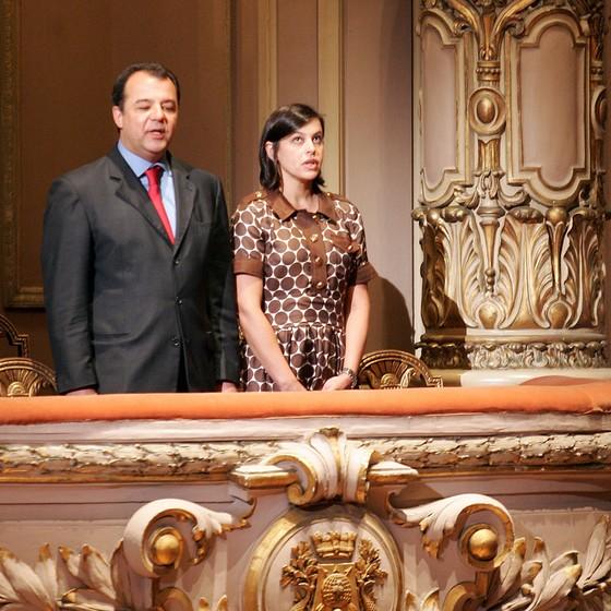 O ex-governador do Rio Sergio Cabral e a mulher dele, Adriana Ancelmo (Foto: WILTON JUNIOR/ESTADÃO CONTEÚDO)