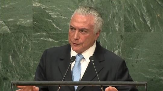 Veja a íntegra do discurso de Temer na abertura da assembleia da ONU