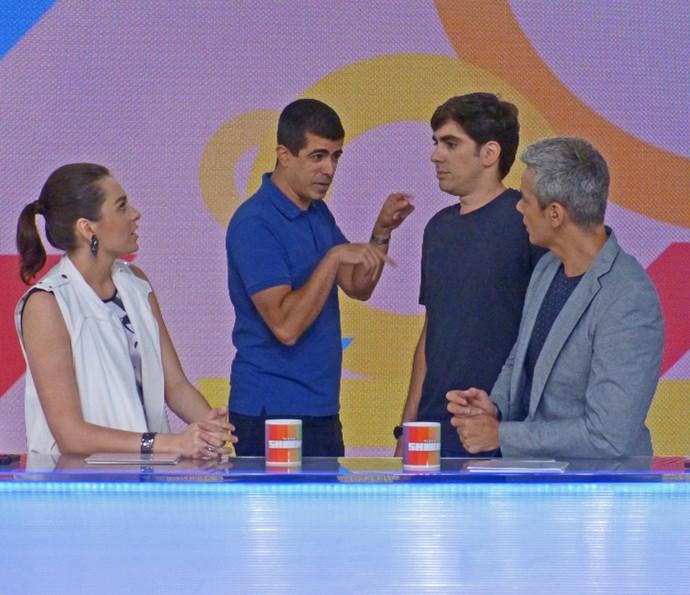 Marcius Melhem e Marcelo Adnet invadem o 'Vídeo Show' (Foto: Cristina Cople / Gshow)