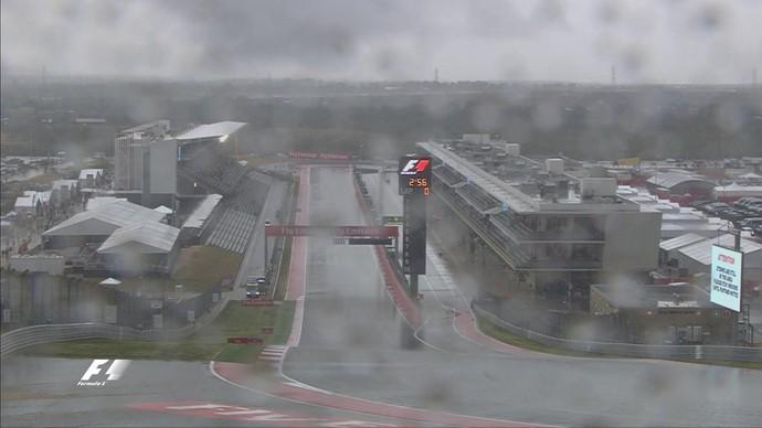 Chuva forte e raios provocam cancelamento do 2º treino livre para o GP dos EUA (Foto: Divulgação)