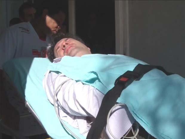 Vice-presidente da Câmara de Franca, Marco Garcia (PPS), precisou ser hospitalizado (Foto: Reprodução/EPTV)