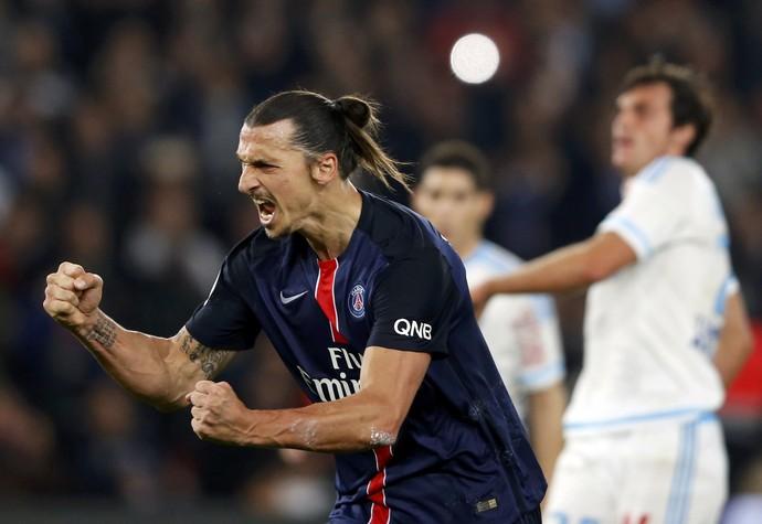 Ibrahimovic PSG Olympique de Marselha (Foto: Reuters)