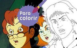 Para colorir: Jovens heróis