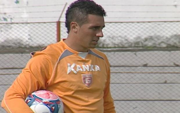 Leandro, goleiro titular do Guarani-MG (Foto: Reprodução / Tv Integração)