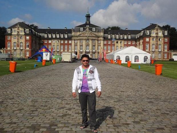 Barroso, ex-bolsista do Ciência Sem Fronteias, na Alemanha. (Foto: Divulgação)