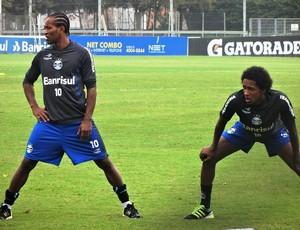 Zé Roberto Guilherme Biteco Grêmio (Foto: Tomás Hammes / GLOBOESPORTE.COM)