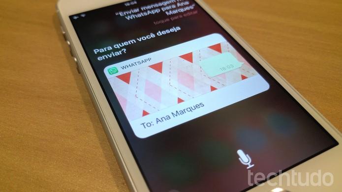 [marca] WhatsApp e Siri (Foto: Thássius Veloso/TechTudo)