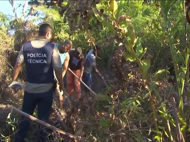 Irmãos foram encontrados mortos enterrados em fazenda na Bahia (Foto: Reprodução/TV Subaé)