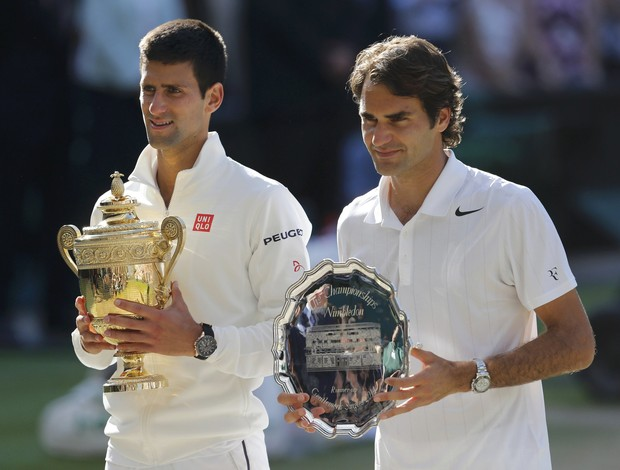 Novak Djokovic x Roger Federer final Wimbledon (Foto: Reuters)