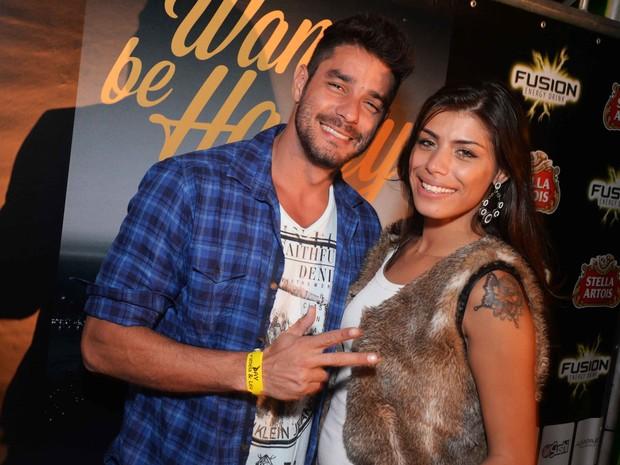 Ex-BBBs Diego e Franciele em festa no Rio (Foto: Ari Kaye/ Divulgação)