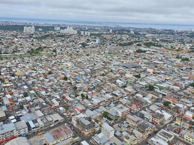 Imagem aérea de Manaus (Foto: Adneison Severiano/G1 AM)