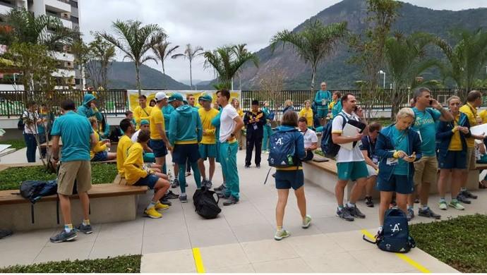 Incêndio Austrália Vila Olímpica (Foto: GloboEsporte.com)
