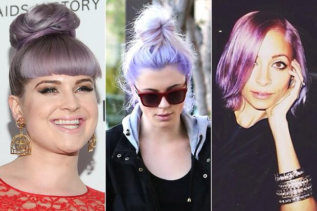Beleza - Cabelo lilás - Kelly Osbourne, Ireland Baldwin e Nicole Richie (Foto: Getty Images | X17 | Instagram)