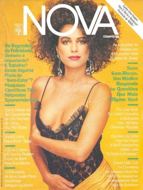 Leila Richers na capa da revista 'Nova' (Foto: Reprodução da internet)