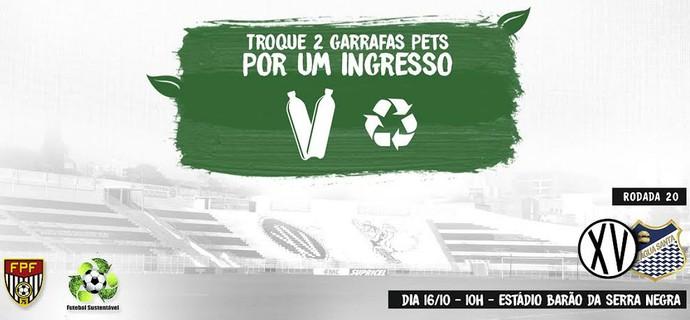 XV de Piracicaba x Água Santa Futebol Sustentável (Foto: Reprodução / XV de Piracicaba)