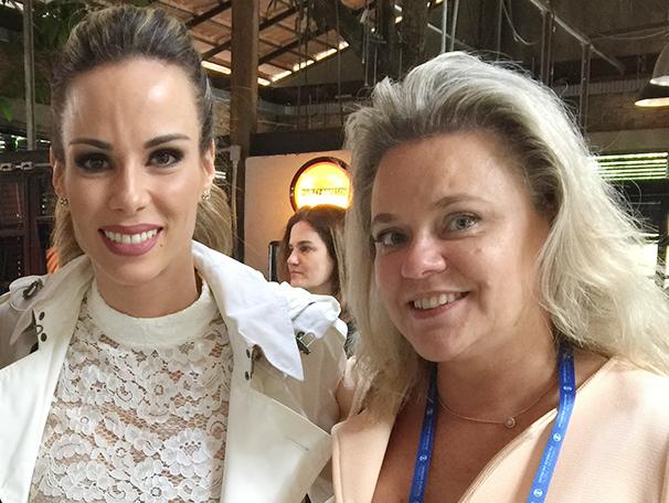 A apresentadora Ana Furtado e Luciane Lima, acionista e diretora executiva da TV Fronteira  (Foto: Arquivo pessoal)