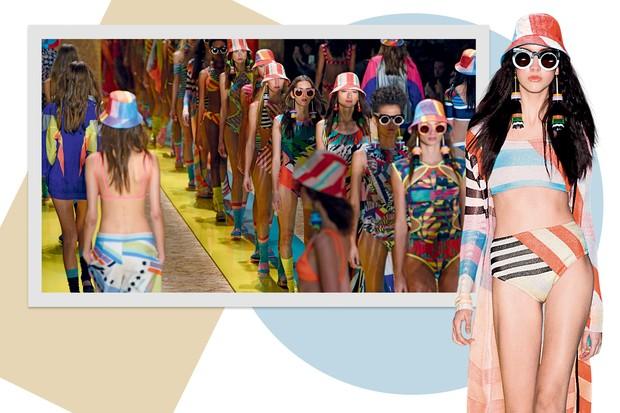 SALINAS A marca carioca veterana das passarelas se mantm jovem em coleo com tons vibrantes e pegada esportiva que remete a Miami Foto Rafael ChaconAgncia Fotosite Imax Tree e Divulgao