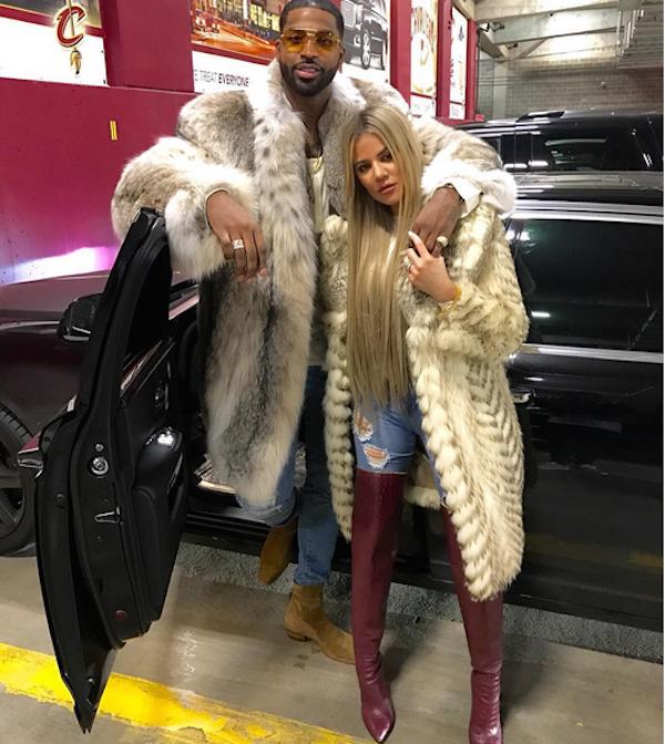 Khloé Kardashian com o namorado, Tristan Thomspon (Foto: Instagram)
