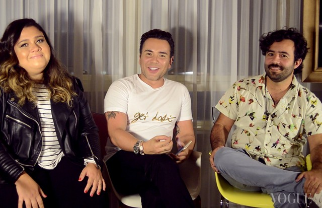 Mister V: Matheus Mazzafera entrevista Ju e Paulo Mattoni (Foto: reprodução)