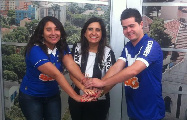 Rivalidade em campo e muita brincadeira e clima de paz entre os colaboradores da Inter TV MG (Foto: Diego Souza/G1 Vales)
