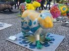 Capivaras gigantes são expostas em Curitiba; veja fotos da 'Capi Parade'
