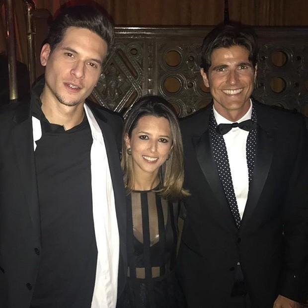 Reynaldo Giannecchini com a assessora Tatiane Zeitunlian  e o amigo Diego Fragoso (Foto: Reprodução/Instagram)