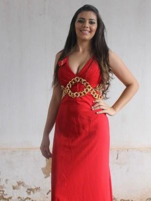 Hellen Moraes, a Miss Penitenciária de MS (Foto: Nadyenka Castro/ G1 MS)