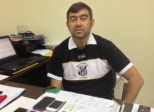 Presidente do Santos/AP, Luciano Marba, diz que time fará jogo de volta no PA se 'Zerão' não for reinaugurado na data anunciada (Foto: Gabriel Penha/GE-AP)