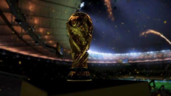 Taça da Copa também está no trailer de 2014 Fifa World Cup Brazil (Foto: Reprodução/ Youtube)