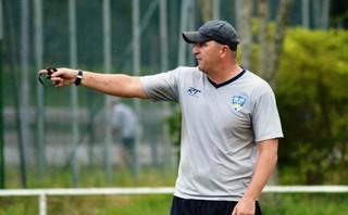 Técnico Luciano Quadros São José dos Campos (Foto: Daniel Mello / Assessoria SJCFC)