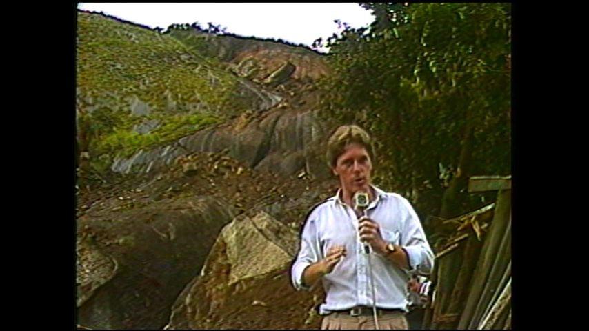 Deslizamento no Morro do Macaco, em 1985 (Foto: Divulgação/ TV Gazeta)