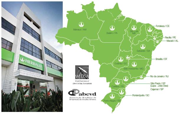 No Brasil, a atuação da Herbalife está em quase todo o território. Com muito espaço para crescer (Foto: Divulgação)