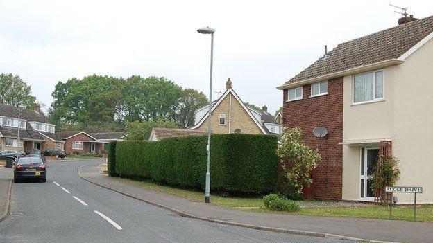 Casa que pertencei a Ayrton Senna, em Norwich (Foto: BBC)