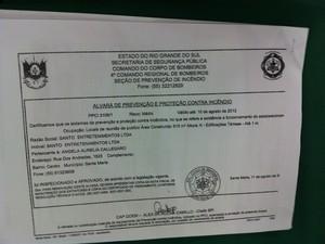 Advogado de sócio da boate apresentou alvará vencido Kiss 24 erros (Foto: Tatiana Lopes/G1)