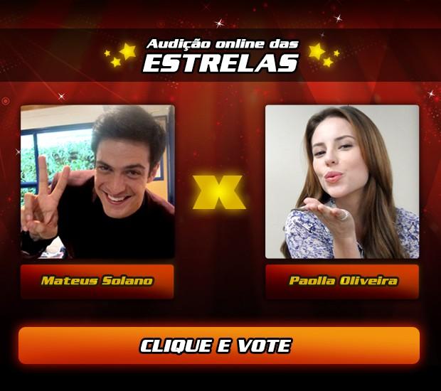 Vote Paolla Oliveira x Mateus Solano (Foto: Tv Globo/ The Voice Brasil)